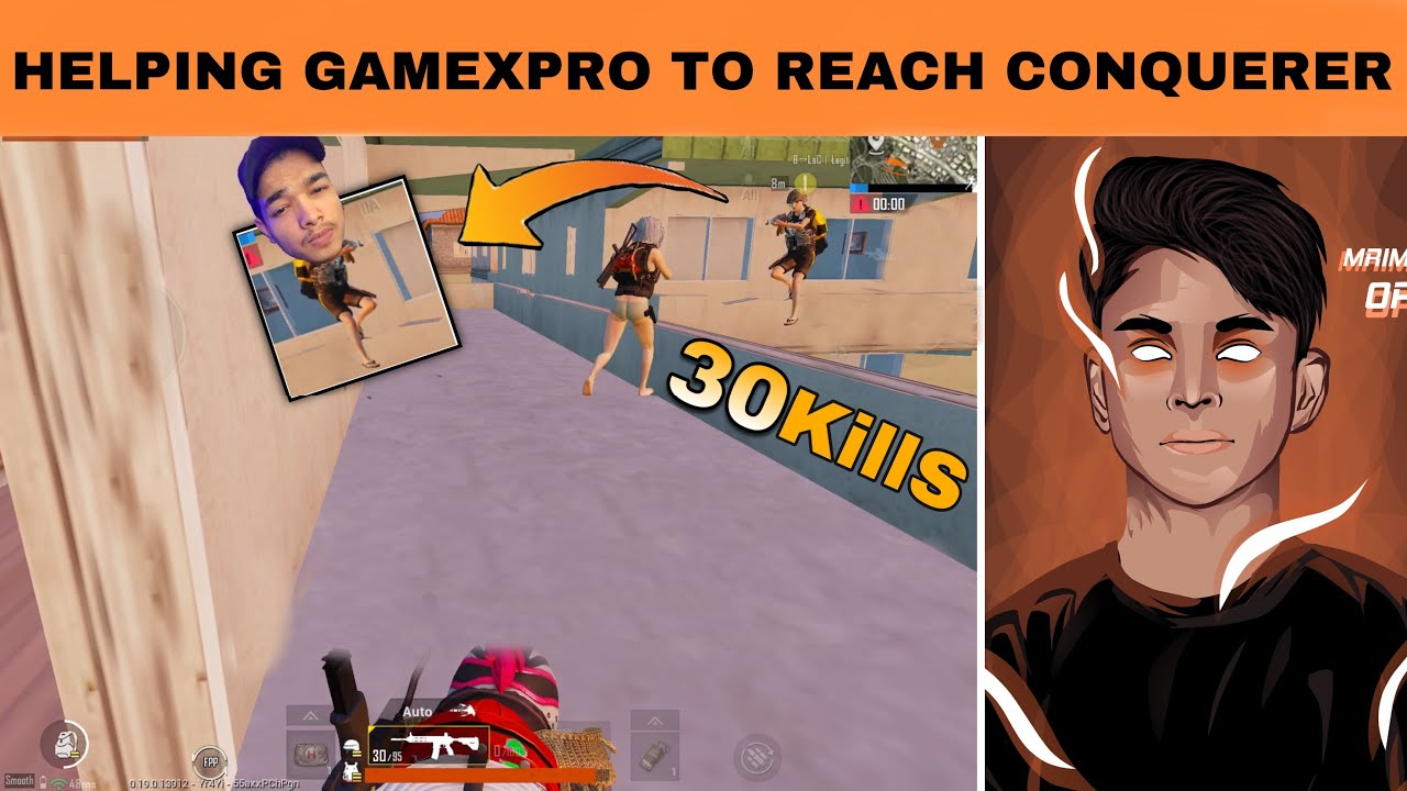 GameXpro said me to help him to push conqueror in a very hard lobby | Full rush gameplay | OP Mrimay
