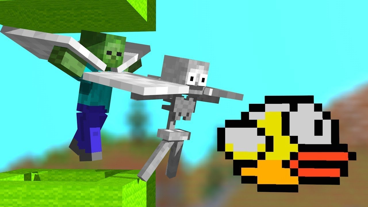 ✅ Monster School : Flappy Bird - Minion Rush Challenge - Minecraft Animation rusplaying