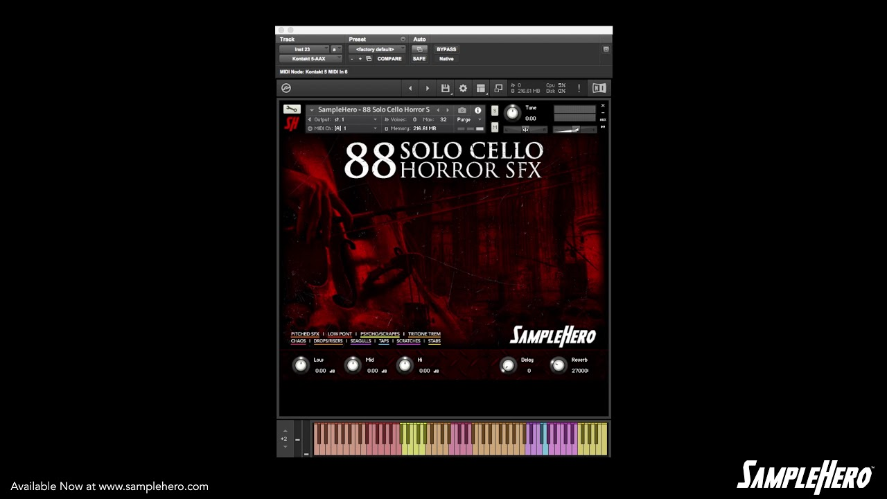 SampleHero 88 Solo Cello Horror SFX KONTAKT - Freshstuff4you