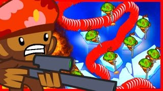 BTD Battles - WINNING WITH RED BALLOON RUSH?! - Bloons TD Battles