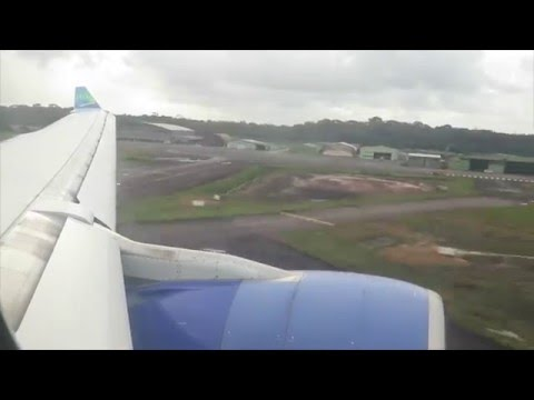 Approach and landing in Cayenne, French Guiana (CAY-SOCA)