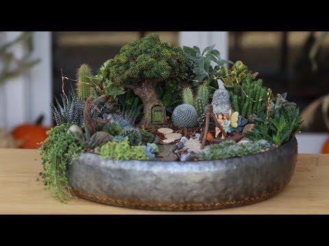 Succulent Treehouse Fairy Garden! 🌵🧚♀️// Garden Answer