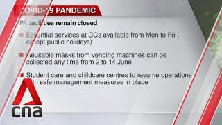 COVID-19: People's Association facilities to remain closed during Phase 1
