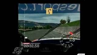 Colin McRae Rally 3 PC Games Gameplay - Rainy windshield