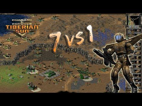 Tiberian Sun - 7 Brutals Vs 1 Human - Forest Fires Extra Money Edition