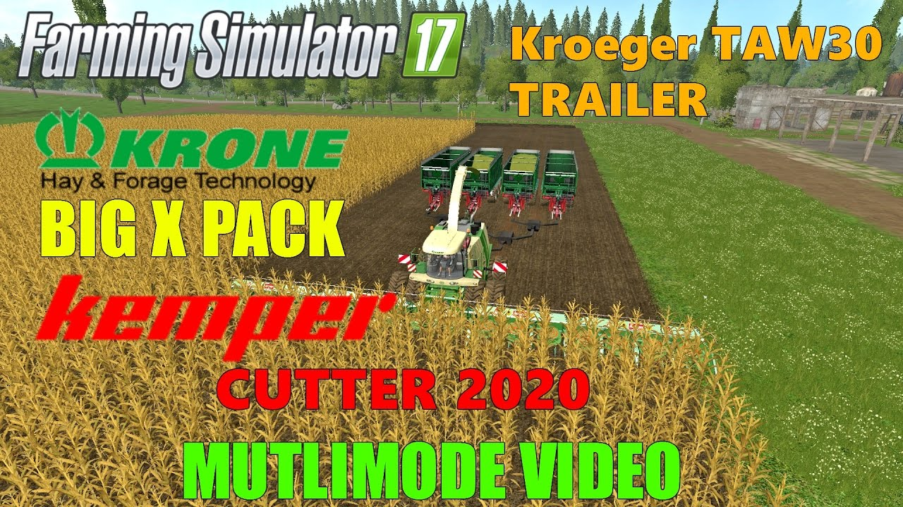 Farming Simulator 2017 Mods 4 TRAILER CORN HARVERST