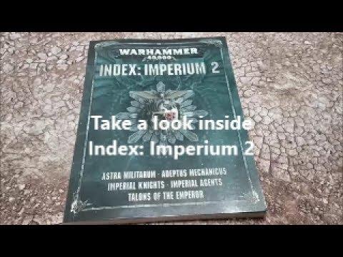 Warhammer 40k 8th edition; Index Imperium 2