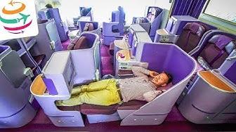 THAI Airways Business Class (Royal Silk) Boeing 777-300ER | YourTravel.TV