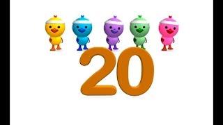 #LOS NÚMEROS del 1 al 20 - Canción infantil educativa de los números - La Pelota Loca