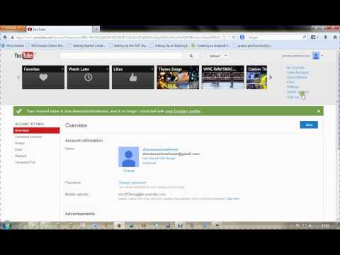 How to Disconnect Google+ Profile from your active Youtube Channel/Account