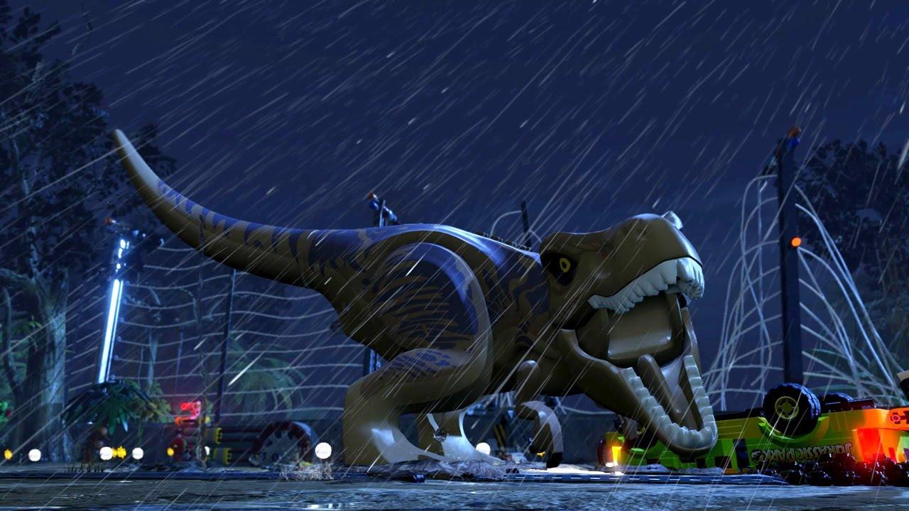 Lego Jurassic World T Rex Trailer Youtube