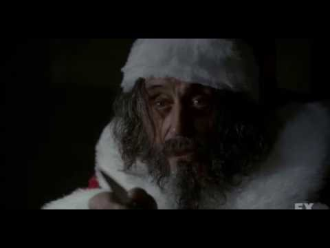 American Horror Story Asylum - Sister Eunice Traps Sister Jude With The Murderous Santa