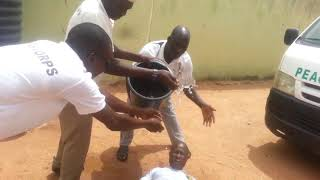 Peace Corps Member Faints After Buhari Rejected Nigeria Peace Corps Bill