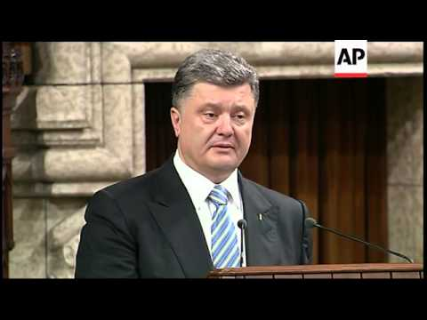 Ukraine president thanks Canadian parliament for support in fight against Russia separatists