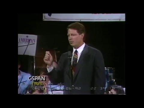 Al Gore calls out Bush on Iran-Contra Scandal (1992)