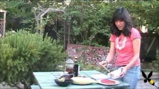 Grilled Salmon, Eggplant, Corn, and Tomato Salad