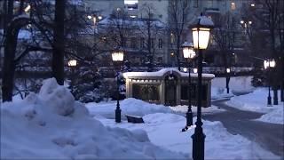 Прогулки по Кремлю. Зимние тракты Александровского сада. Walks on the Kremlin. Alexander Garden