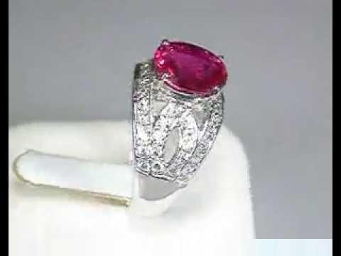 Шпинель розовая и сапфиры, серебро 925, 007КТ кольцо