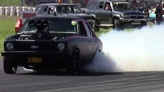 Epic Powerskids and burnouts  - 13 minute GM Holden compilation - Commodores and Toranas Powercruise