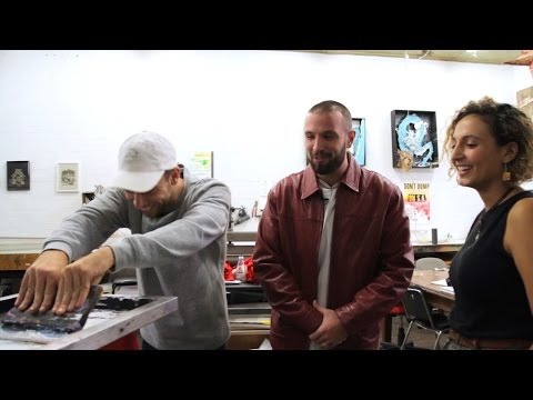 YEWTH | Screen-printing with Spit Syndicate