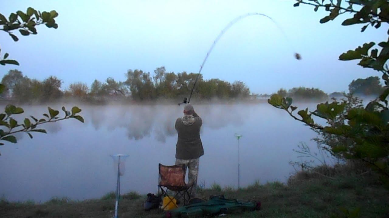 Рыбалка на фидер в феврале - YouTube