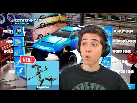 *NEU* AUTOS TUNEN + GRAPPLER BOGEN ist da in Fortnite! (Whooa)