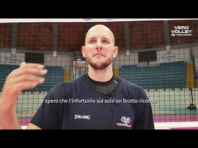 Bartosz Kurek al lavoro con la Vero Volley Monza