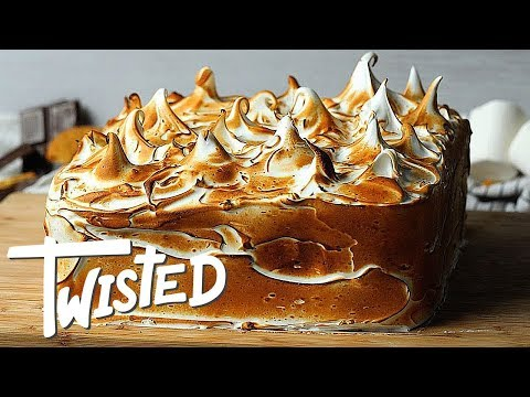 Toasted Marshmallow Smores Cake Recipe | Homemade Cake Ideas | Dessert Recipes |  Twisted