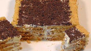 Торт без выпечки за 15 минут - самый легкий рецепт