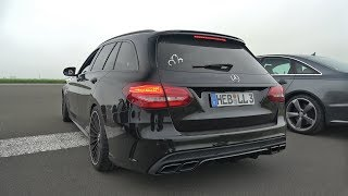 Mercedes-AMG C63S Estate BRUTAL EXHAUST SOUNDS!