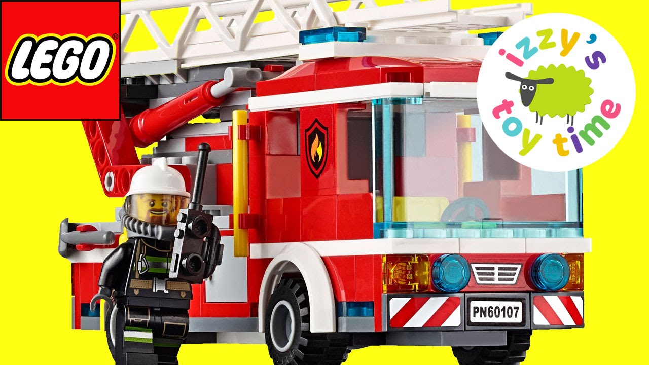 cars for kids lego fire truck speed build toy cars for kids from izzys toy time family fun