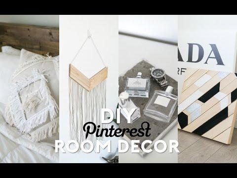 DIY Pinterest Inspired Room Decor! Minimal & Easy!