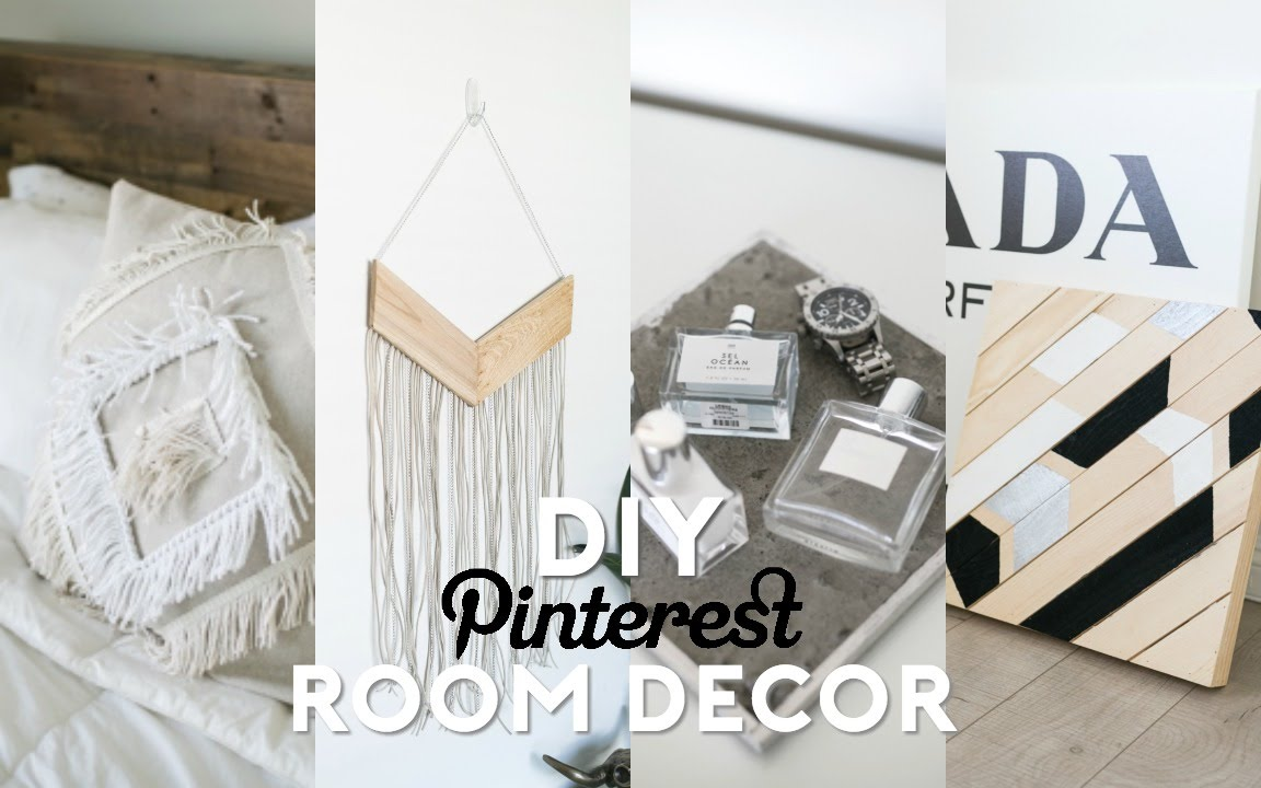 diy pinterest inspired room decor minimal easy youtube - Room Decorations Diy Pinterest