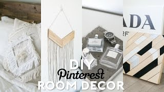 DIY Pinterest Inspired Room Decor! Minimal & Easy!