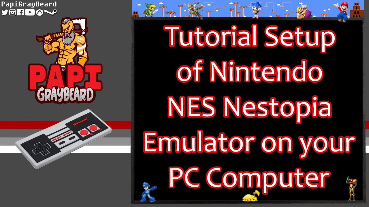 Setting up NES Nestopia emulator on your PC