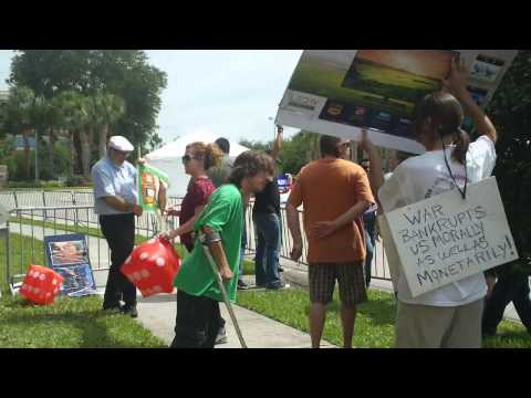 Activists protest JP Morgan Chase at their annual shareholder meeting: WMNF News