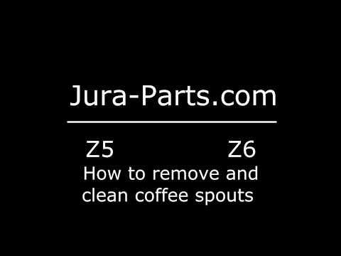 How to Remove Jura Z5-Z6 Coffee Spouts | Fix Clog