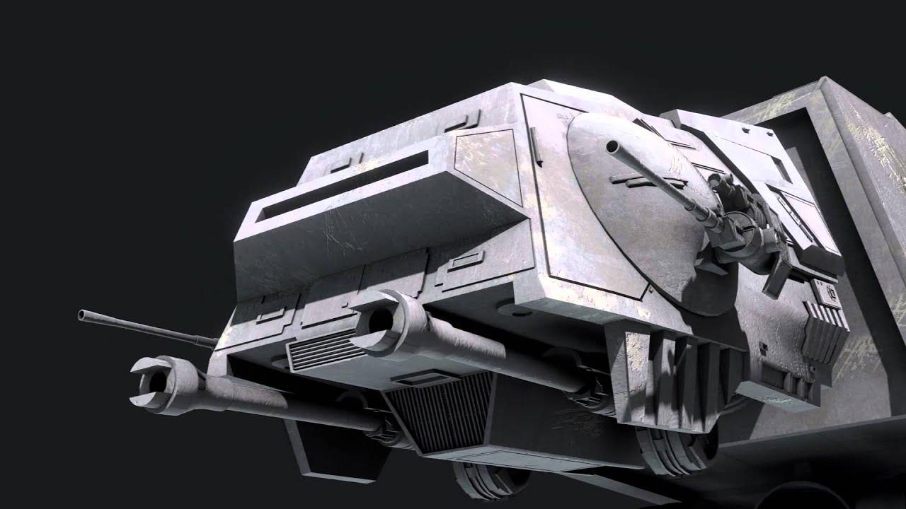 AT-AT Walker shooting R2D2 - Blender 2.69 - YouTube