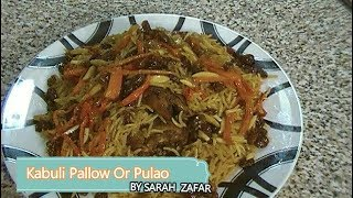 Kabuli Pulao (afghan Cuisine)