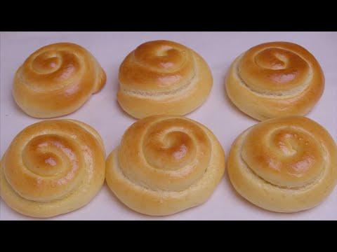 面粉别蒸馒头了,试试这样做奶香小面包,松软拉丝,比买的还好吃