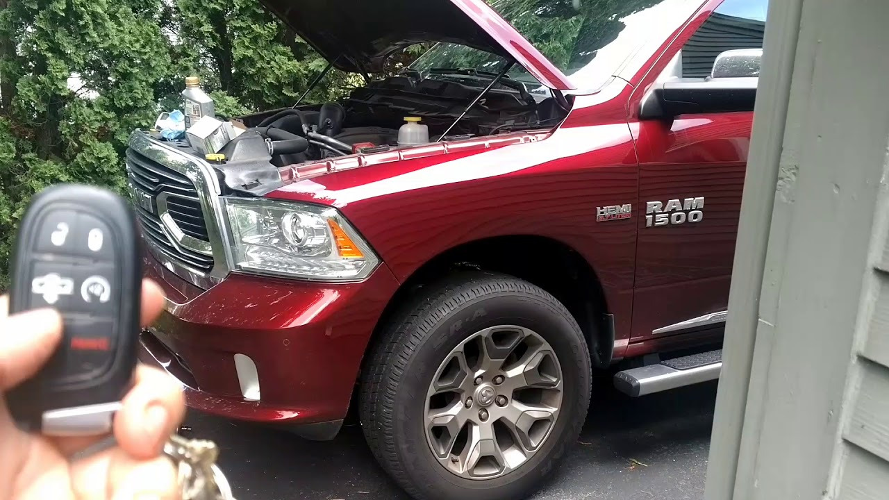 2017 Ram 1500 Oil Change 5 7l Hemi Engine Maintenance Youtube