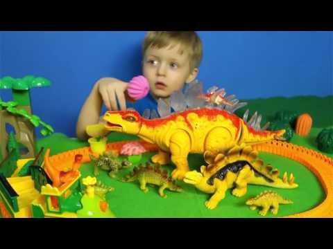 Детям про Динозавров Хищники и Травоядные Поезд Динозавров Все Серии Подряд Сборник для Де