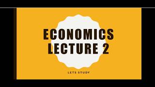 Economics tutorial 2 -ppf (production possibility frontier )