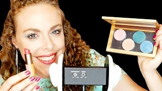 ASMR Whispering & Tapping: My FAVE Make Up! Binaural Ear to Ear Haul, Spa, Beauty, ZAO Makeup