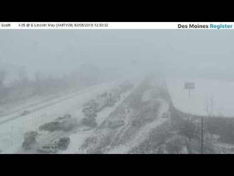 WATCH: Iowa DOT releases raw video from I-35 pileup near Ames
