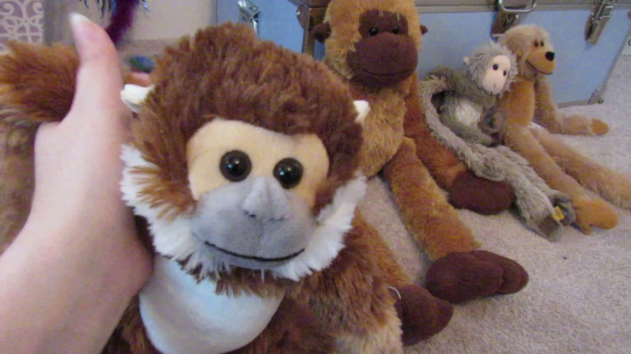 Huge Stuffed Animal Collection Part 4 Primates And Birds Youtube