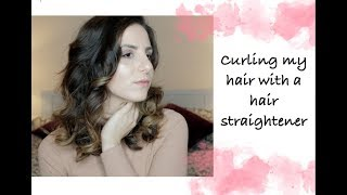 How to curl your hair by only using your straighteners | Shorter Hair Tips