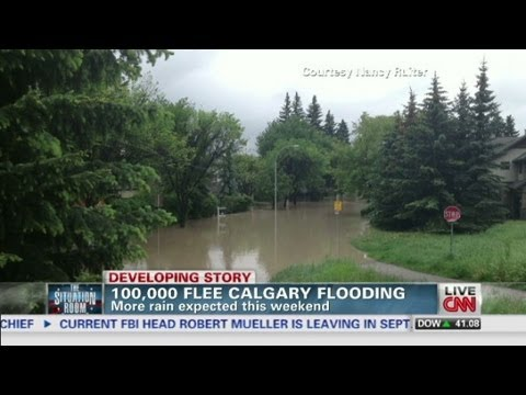 Fleeing Calgary flooding