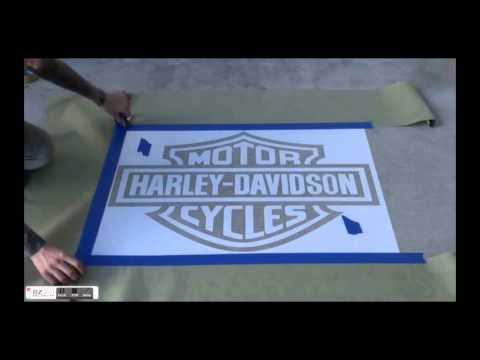 How to Make a Dyed Logo on Polished Concrete FLOORmap Stencil Designs-DM Moore Enterprises