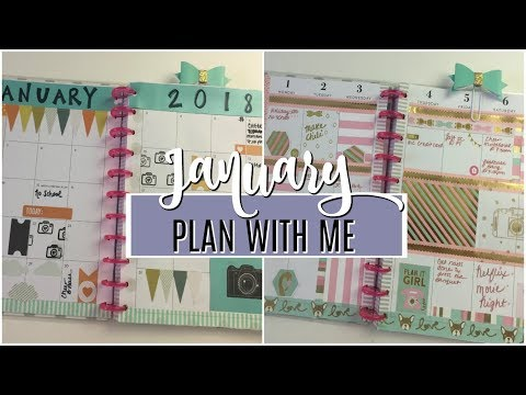 PLAN WITH ME | January Monthly + Weekly Spread | 2018